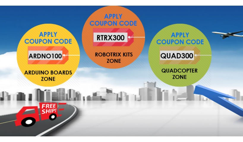 Summer Offer on Arduino, Quadcopter and RobotriX kits