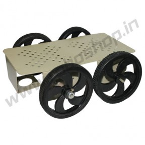 4 Wheel Robotic Platform 2.0 with BO Motor (2x4 Drive)