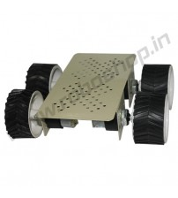 4 Wheel Robotic Platform 2.0 with DC Motor (4x4 Drive)