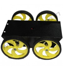 4 Wheel Robotic Platform 1.0 with DC Motor (4x4 Drive)